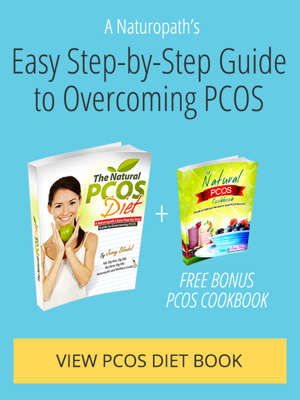 The Natural PCOS Diet book and bonus Cookbook